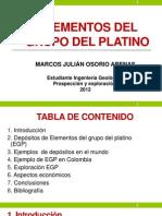 Elementos Del Grupo Del Platino