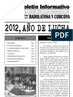 Boletín Informativo IU Badolatosa - nº 02 - 2012, AÑO DE LUCHA
