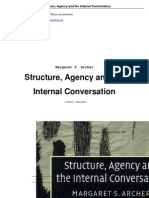 Structure Agency and the Internal Conversation - Margaret S. Archer