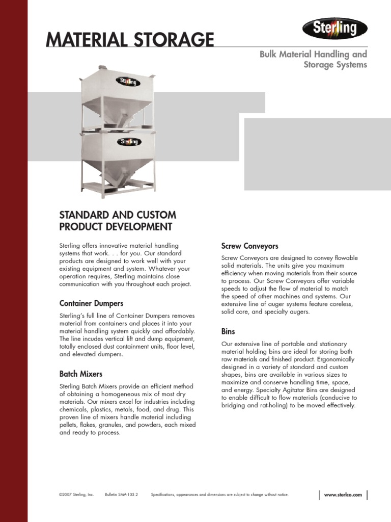 Bulk Storage LO6 | Equipment | Industries