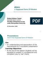 2008-2009 Leeds Met - PPE-PACE Presentation Tips