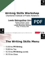 Cipr - Writing Skills 2008