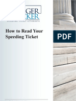 How to Read Your Speeding Ticket