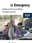 """Report  """"Chronic Emergency"""", by the Backpack Health Workers Team"""