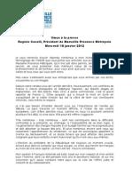 Discours Caselli Voeux Presse 2012
