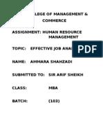 Effective Job Analysis 2