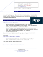 Crystal Reports Consultant 0033