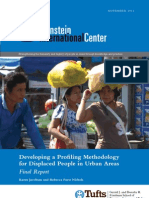 Developing a Profiling Methodology for Displaced People in Urban Areas