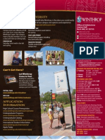 Winthrop University Profile Sheet for 2012