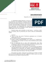 Argumentario Parques Eolicos Mocion PP Ayto. Alpuente