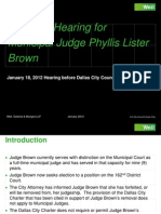 Phyllis Lister Brown Presentation to Dallas City Council January 18, 2012