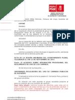 Rectificaciones Al Acta Pleno 13-09-2011