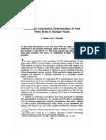 Automated Colorimetric Determination of Free Fatty Acids in Biologic Fluids