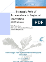 The Role of Accelerators in Regional Innovation