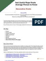 Knots Decorative