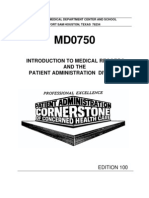 US Army Medical Course MD0750-100 - Introduction to Medical Records and the Patient Administration Division