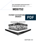 US Army Medical Course MD0752-101 - Patient Accountability Branch