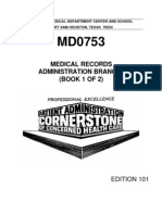 US Army Medical Course MD0753-101 Book1 - Medical Records Administration Branch