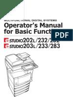 Operator's Manual for Basic Function 203L-233-283-OpsBasic-V05