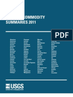 Usgs 2011 Mineral Commodies Summaries