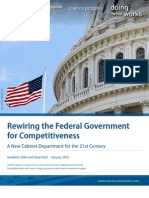 Rewiring the Federal Government for Competitiveness