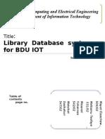 Advanced Database