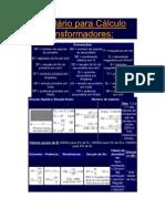 Formulário para Cálculo de Transformadores