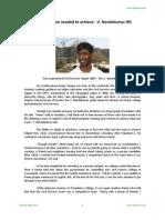 Determination Needed to Achieve v. Nandakumar IRS