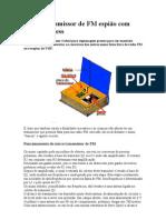 Micro transmissor de FM espião com bf494 wireless