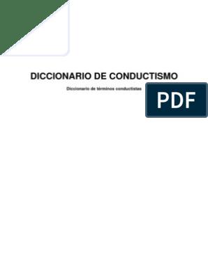 Diccionario De Conductismo Comportamiento Refuerzo