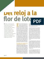 """Artículo """"Del reloj a la flor de loto"""", Revista Uno Mismo, Dic 2011"""