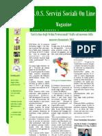 Magazine s.o.s. Servizi Sociali on Line Anno2 Numero6