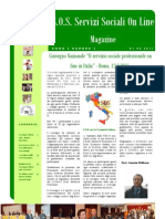 Magazine S.O.S. Servizi Sociali on Line Anno 2, Numero 2