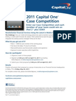 CAPITAL ONE 2011 FS Case Competition Flyer and Official Rules