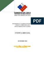 Cuenca Rio Loa Diagnostico y Clasificacion de Los Cursos y Cuerpos de Agua Segun Objetivos de Caldiad