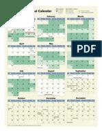 2012 Congressional Calendar