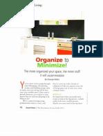 Organize to Minimize