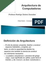 Arquitectura de Computadoras Semana 1