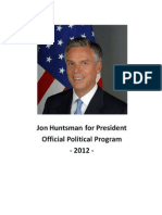 Jon Hutsman - Official political program 2012