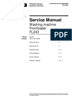 Whirpol Front Loader FL243 Service Manual