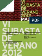 Catalogo VI Subasta de Verano Del MALI