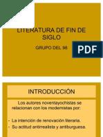 Literatura de Fin de Siglo Novela 98