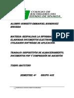 DISPOSITIVOS DE ALMACENAMIENTO, DOCUMENTOS PDF Y COMPRESIÓN DE ARCHIVOS