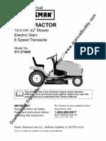 Craftsman917274650DYT4000Manual