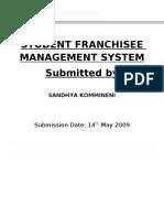 Student Franchisee Management System