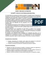 UNIDAD DIDÁCTICA. DISEÑO Y MECANICA AUTOMOTRÍZ. PROYECTO DE PRODUCCIÓN INDUSTRIALdocx