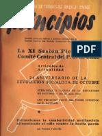 PRINCIPIOS N°5 - NOVIEMBRE 1941 - PARTIDO COMUNISTA DE CHILE