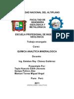 Quimi CA Analitica Mineralogica....