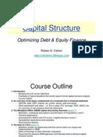 Capital Structure Course Outline-RCohen