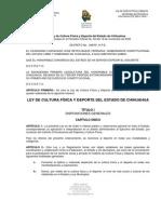 Ley de Cultura Fisica y Deporte Del Estado de Chihuahua
